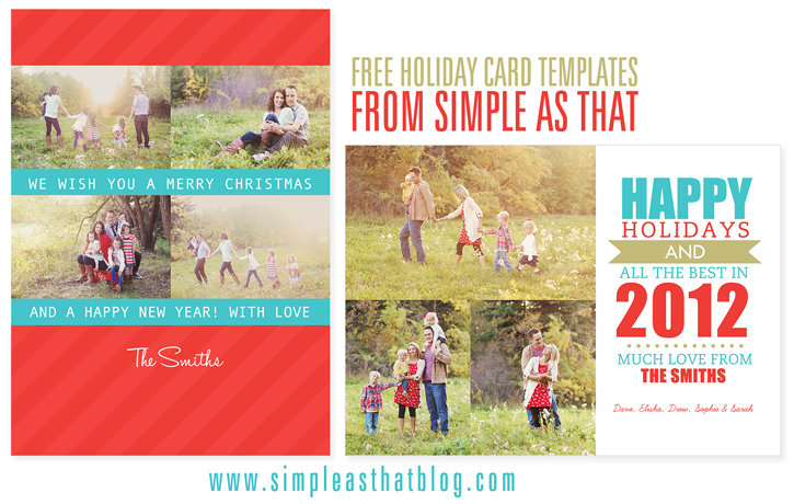 Simple As That Christmas Card Templates One Happy Mama