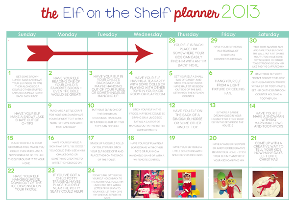 elf-calendar-ideas